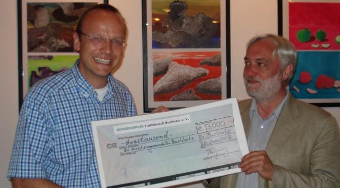 3.000 Euro für die Sanierung der Buchholzer Kirche